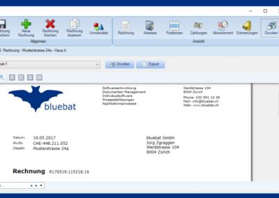 Screenshot Rechnung